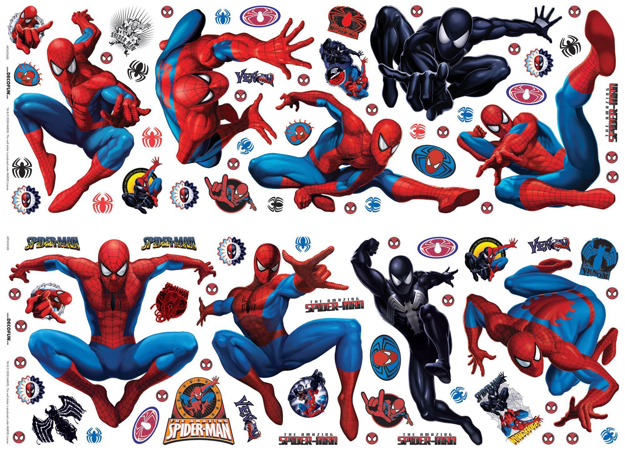 Self Watering Plants Marvel Spiderman Multicolour Self Adhesive Wall Sticker L