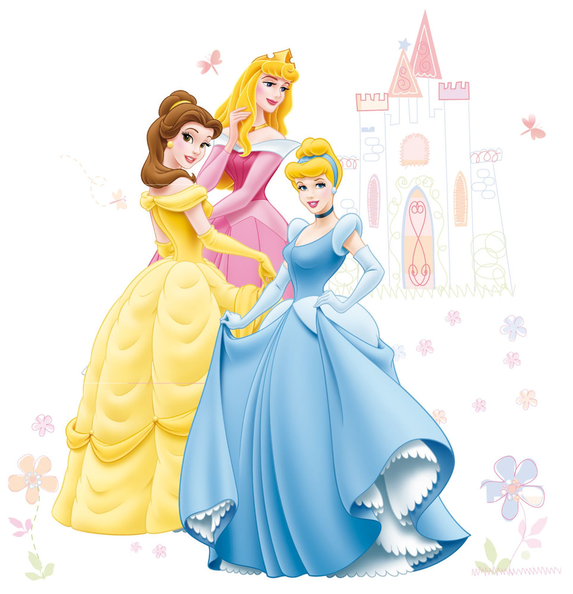 Disney Princess Wall Sticker L1000mm W700mm