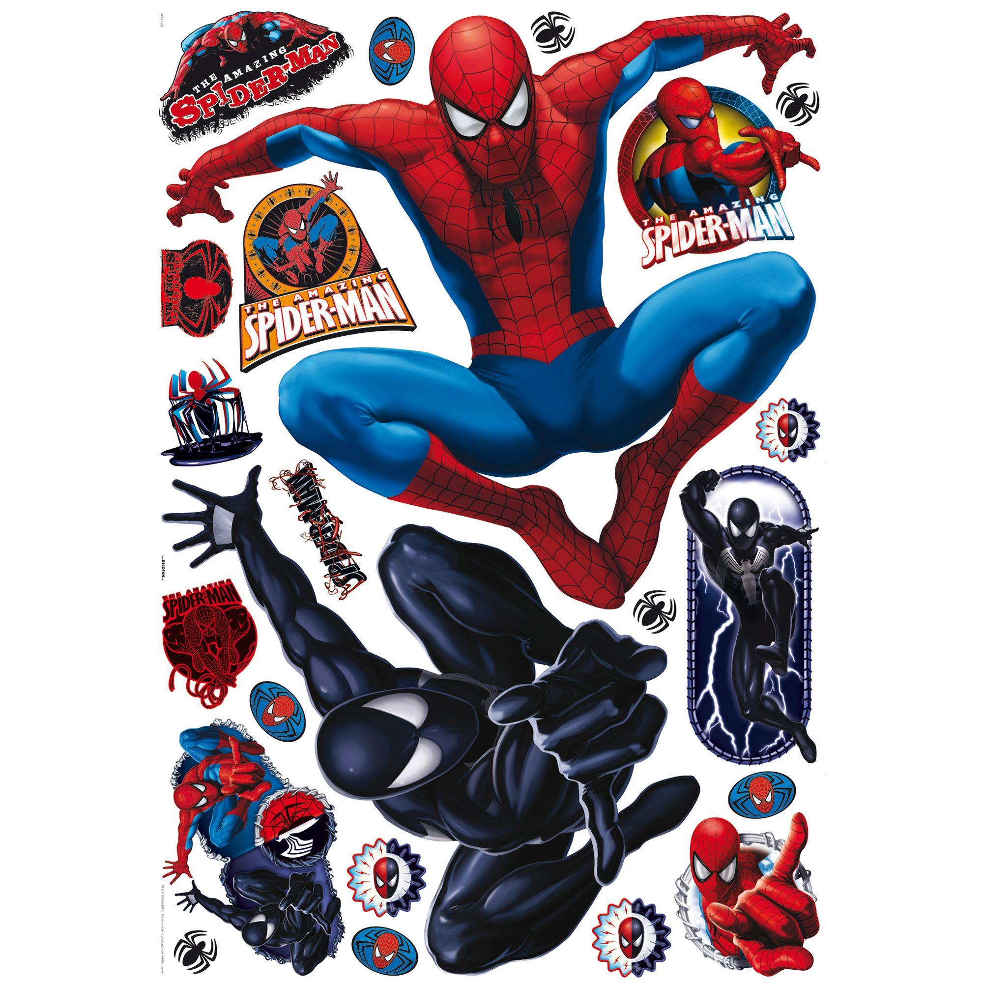 Marvel Spiderman Multicolour Self Adhesive Wall Sticker L 1000mm W 700mm Departments Diy At B Q