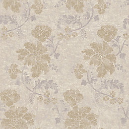 Wall Fashion Persian Beige & Cream Floral Metallic