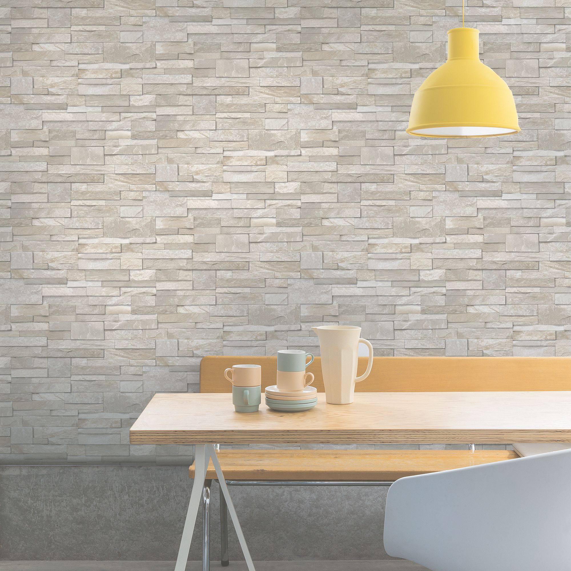 Ideco Home Sand Stone Wallpaper
