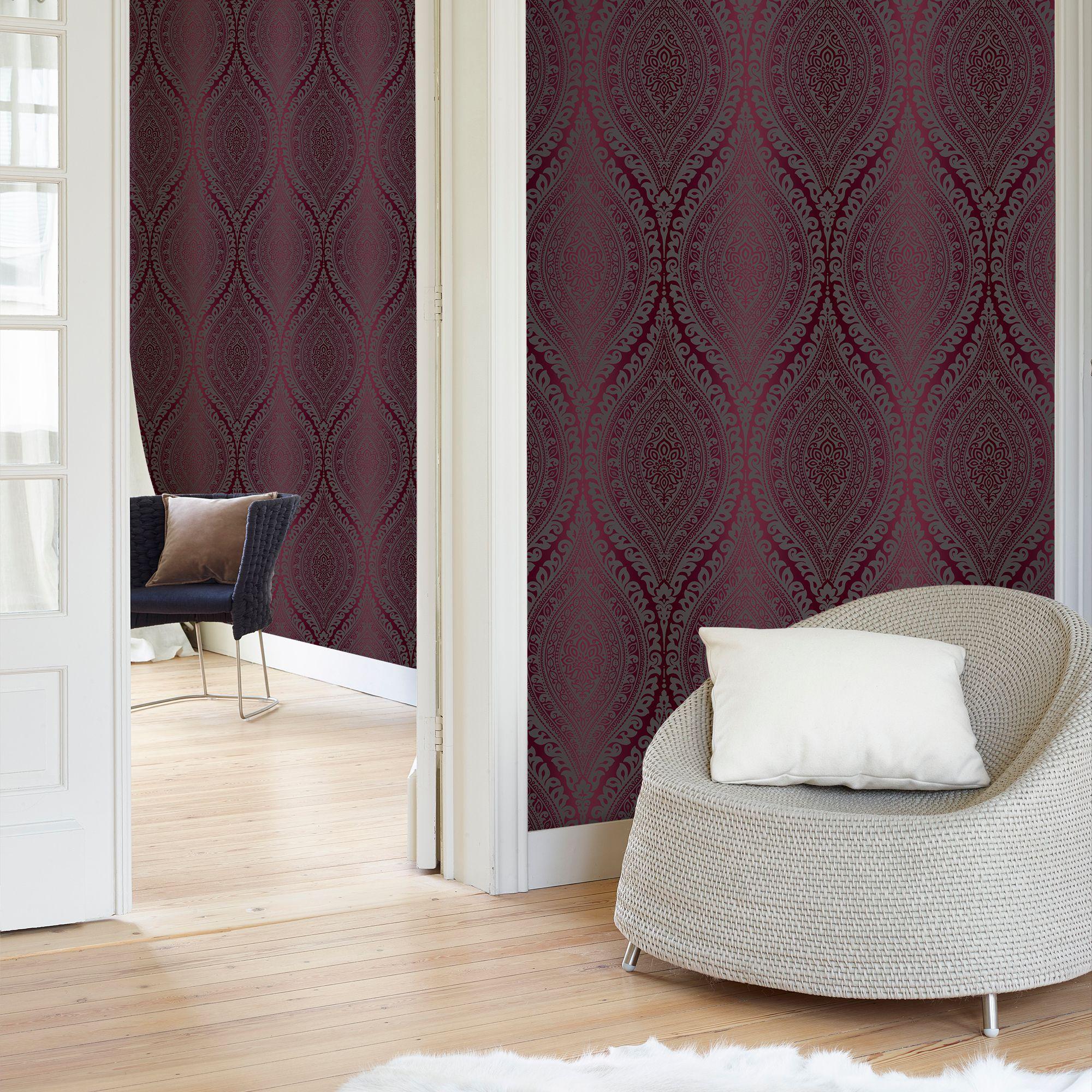 diy glitter furniture. Kismet Purple Damask Glitter Effect Wallpaper | Departments DIY At B\u0026Q Diy Furniture