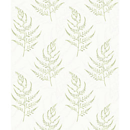 Gold Latilia Green Organic Mica Highlight Wallpaper