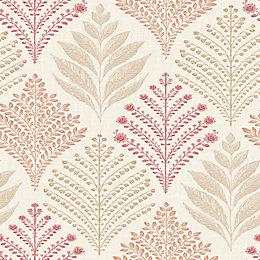 Ideco Home Rowan Red Organic Glitter Effect Wallpaper