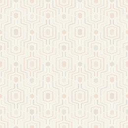 Gold Meso Pink Geometric Wallpaper