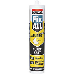 Soudal Fix All Turbo Solvent Free Adhesive &