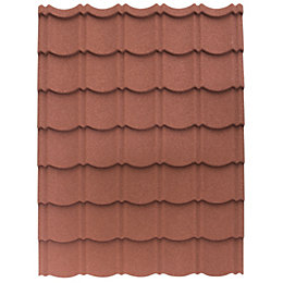 Red Alu-zinc coated steel Easy-cover roofing sheet 1.2m
