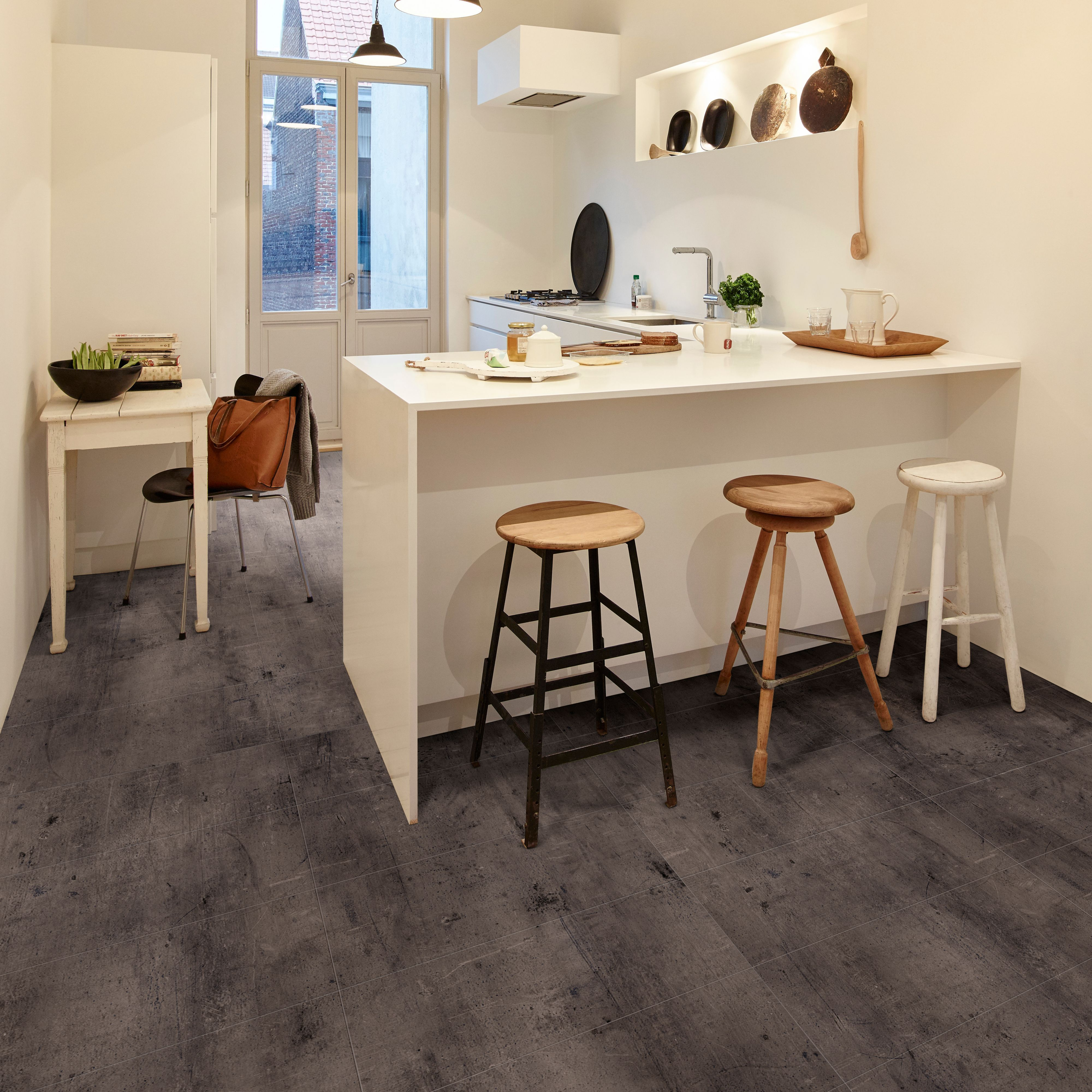 zinc carbon effect waterproof luxury vinyl click flooring 1 5 m