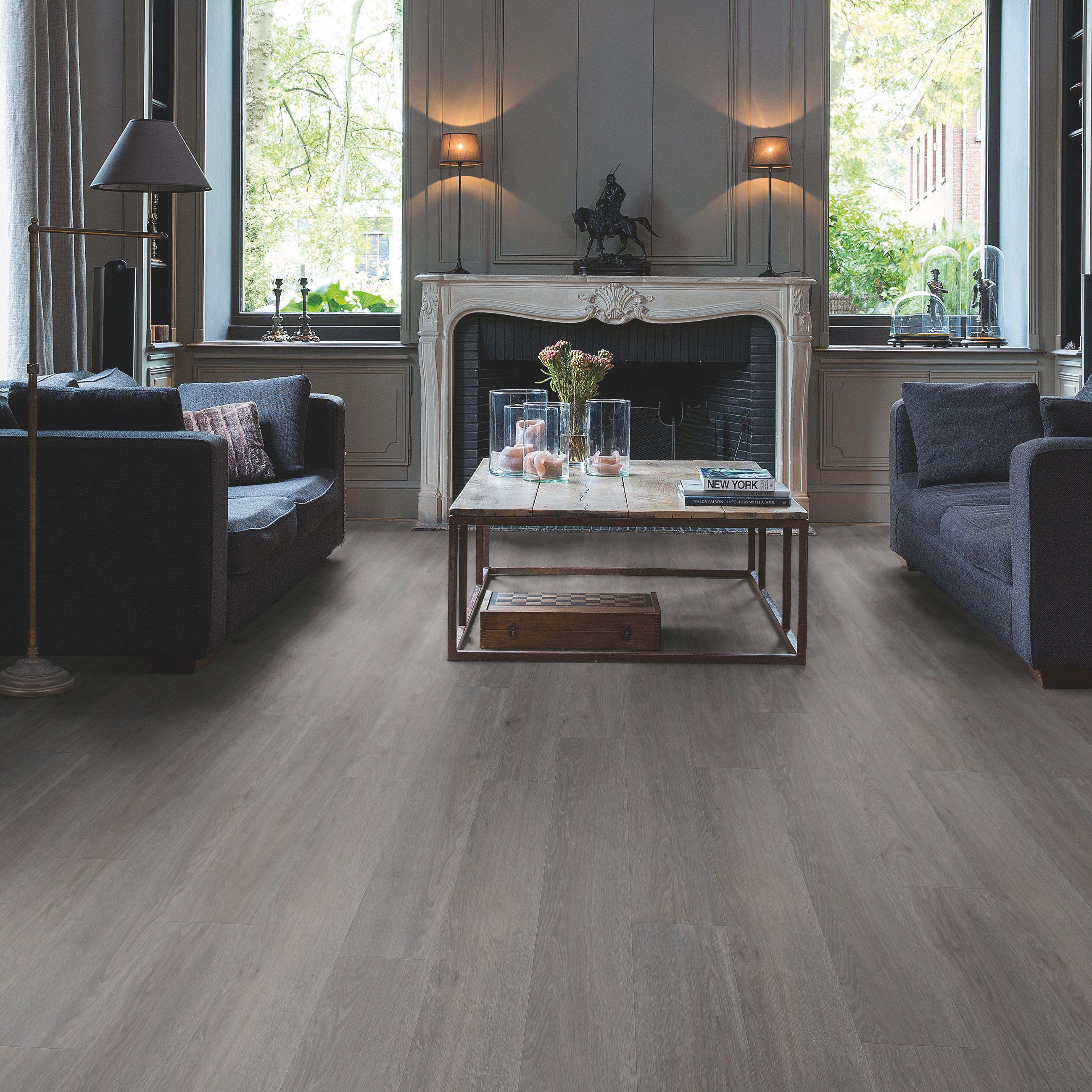 Quick Step Paso Dark Grey Oak Effect Waterproof Luxury