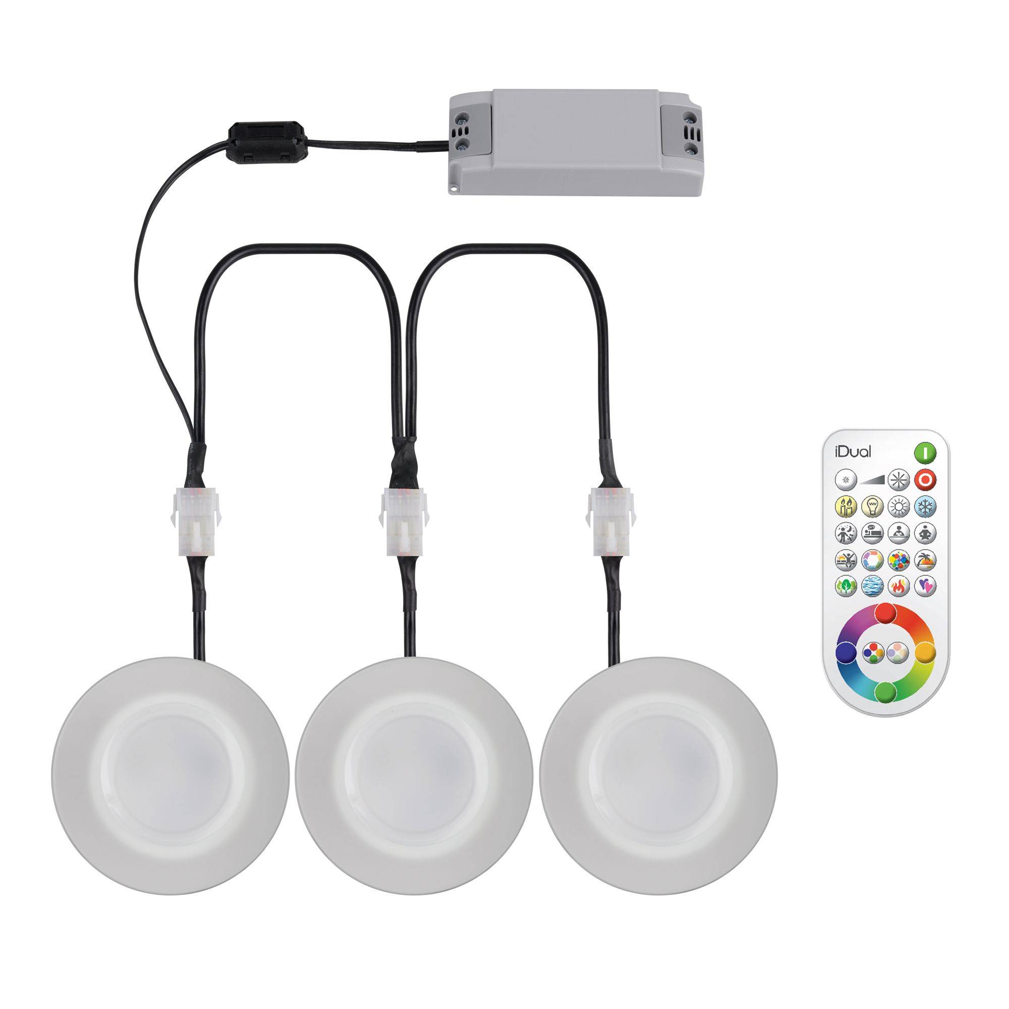 Idual Glass LED Recessed Downlight with Remote 7.3 W, Pack ...