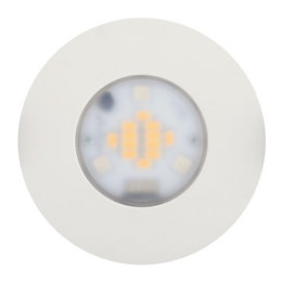 Idual Performa White Brushed Stainless Steel LED Recessed