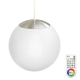 Idual Selena White Frosted Glass Ceiling Pendant with