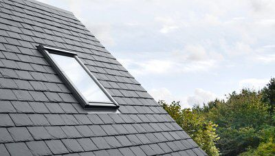 Velux slate flashing h 980mm w 550mm departments for Velux cladding kit