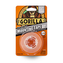 Gorilla Clear Adhesive tape (L)1.5m (W)25.4mm