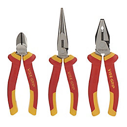 Irwin Vise-Grip 3 Piece Nickel-Chromium Steel VDE Pliers