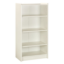Wizard White Painted 3 Shelf Bookcase (H)1232mm (W)640mm
