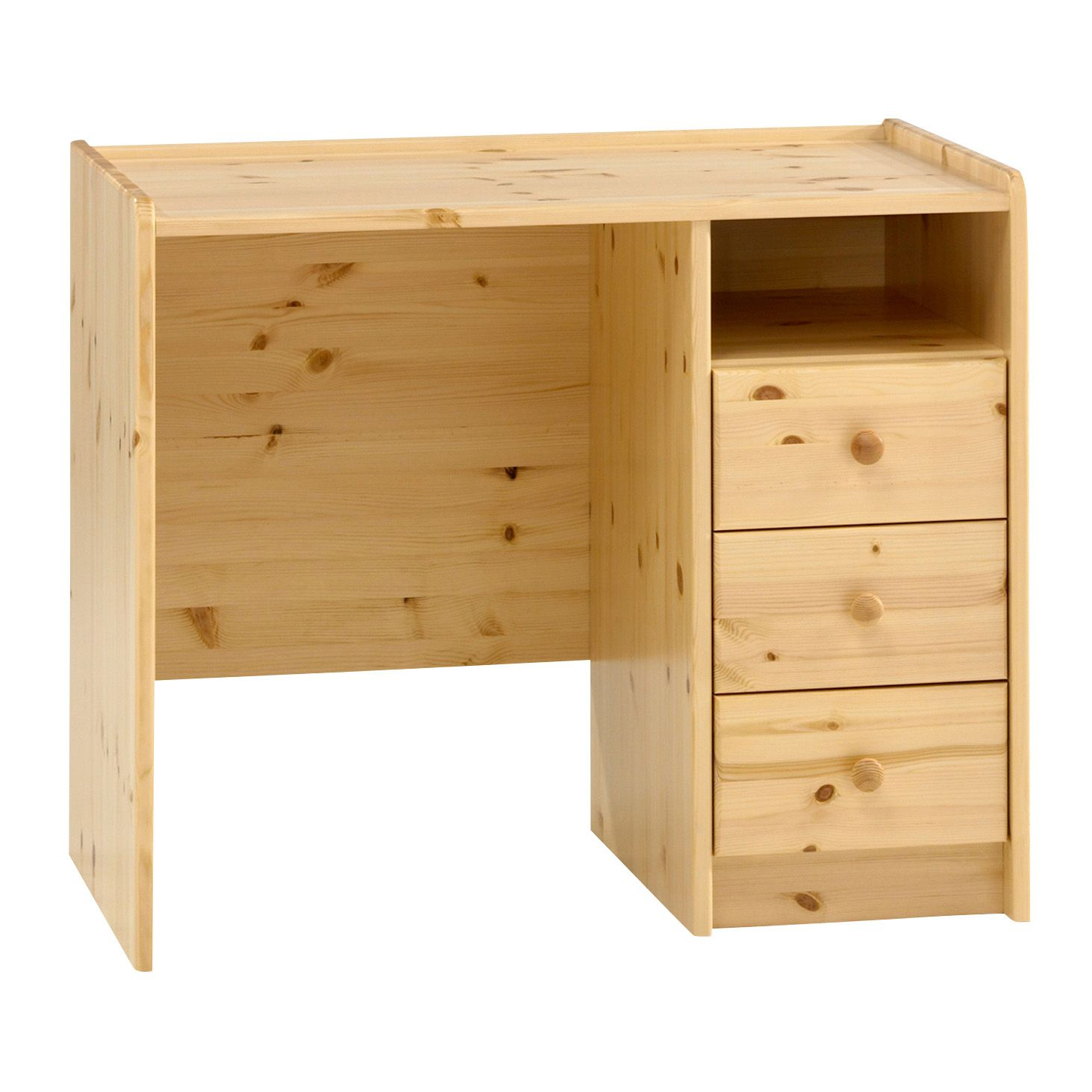 Wizard natural 3 drawer chest h 740mm w 890mm d 536mm for B q bedroom furniture