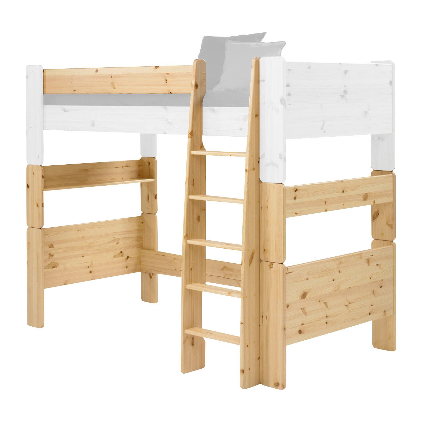 Wizard Pine effect Single High sleeper bed extension kit ...
