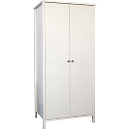 Bergen White 2 door Wardrobe (H)1950mm (W)900mm
