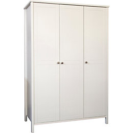 Bergen White 3 door Wardrobe (H)1950mm (W)1158mm