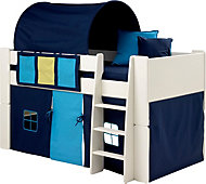 Silentnight Wizard Single Mid Sleeper Bed with Blue Accessories