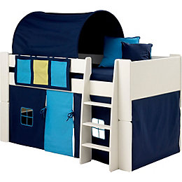 Wizard Single Mid Sleeper Bed with Blue Accessories