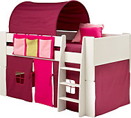 Silentnight Wizard Single Mid Sleeper Bed with Pink Accessories