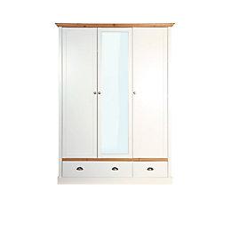 Hemsworth Cream Oak Effect 3 Door 2 Drawer