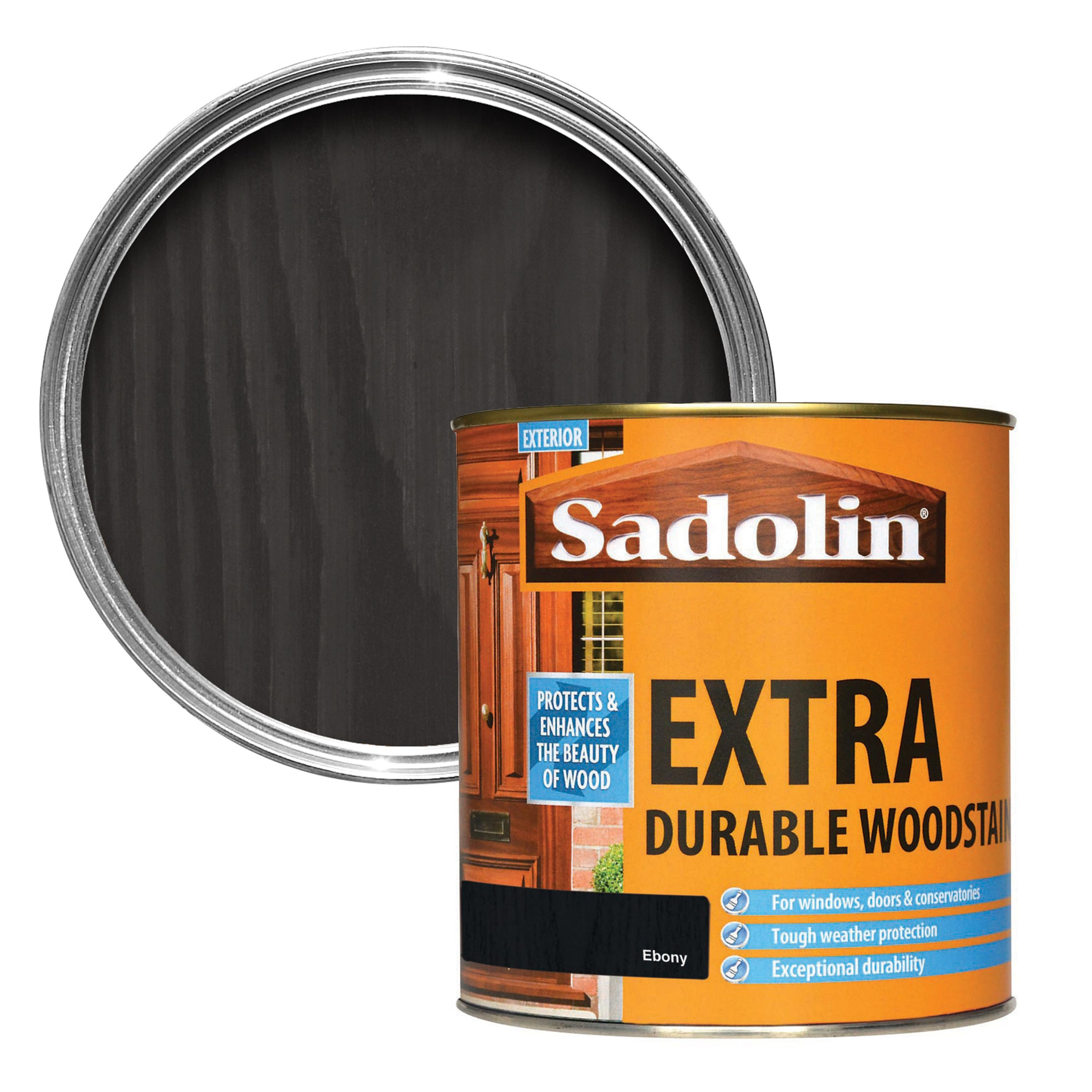 Sadolin ebony woodstain 1l departments diy at b q - Sadolin exterior wood paint image ...
