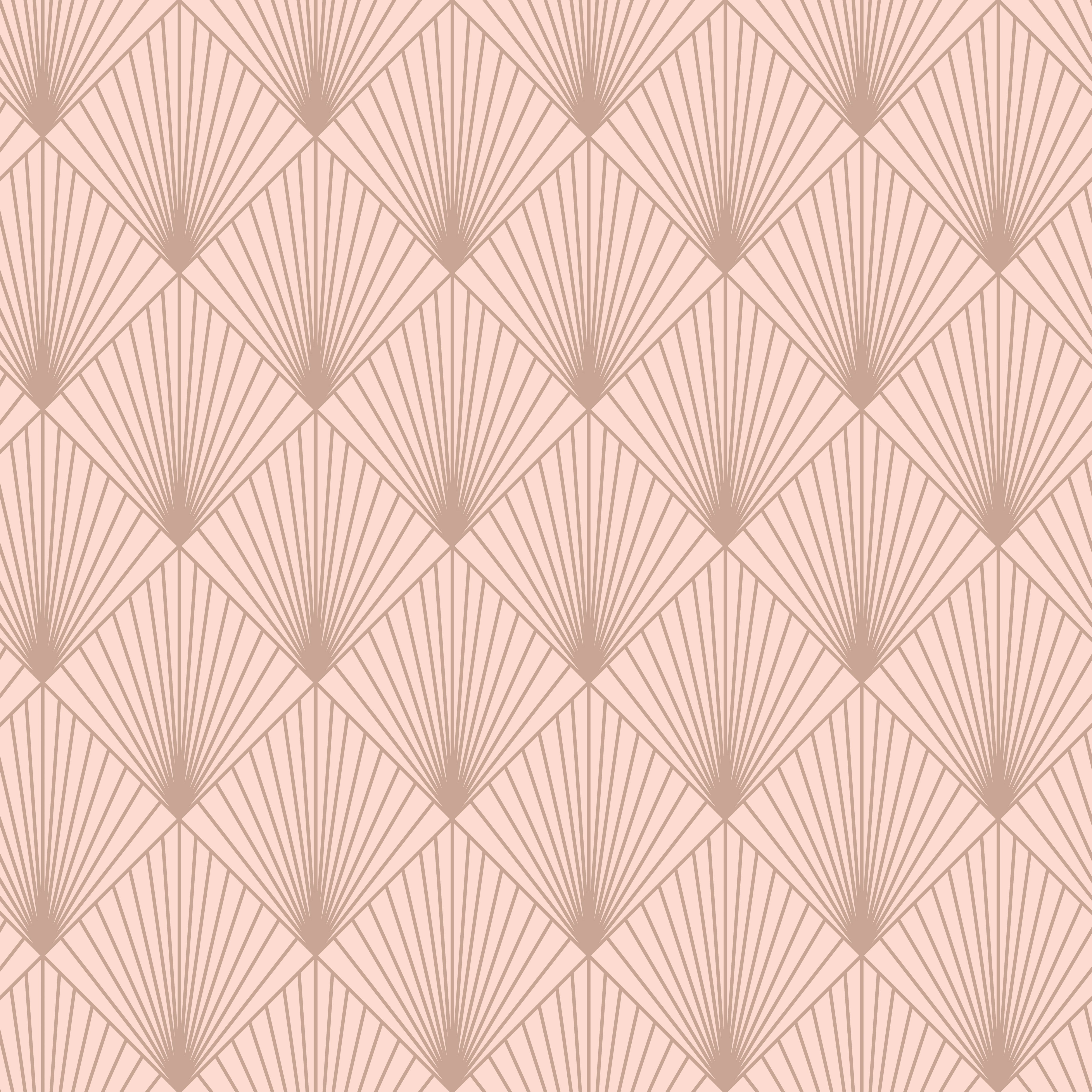 Rasch Deco Pink Fan Rose Gold Effect Smooth Wallpaper Departments Diy At Bq