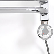 Terma Chrome effect 200W Thermostatic heating element (H)275mm