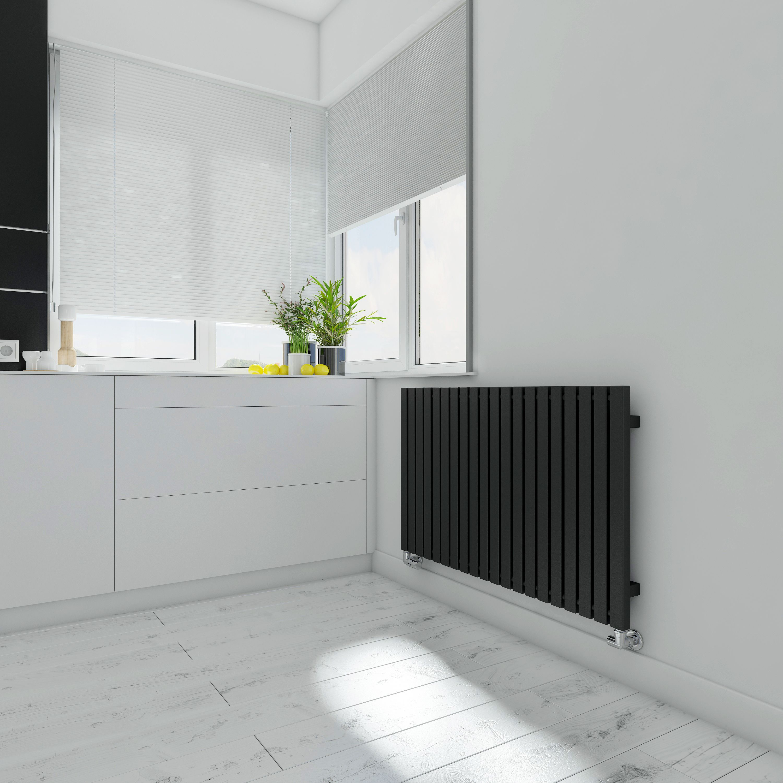 Terma Winchester Horizontal Radiator Metallic black Textured