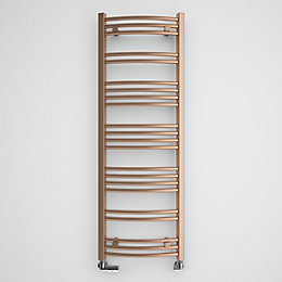 Terma Jade Galvanic Old Copper Round Towel Radiator