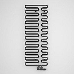 Terma Swale Metallic Black Round Towel Radiator (H)1244mm