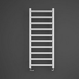 Terma Crystal Soft white Square towel radiator (H)1200mm
