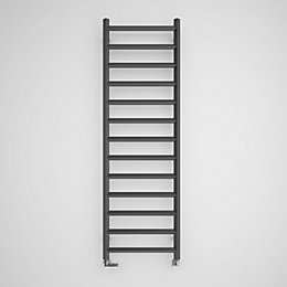 Terma Crystal Modern grey Square towel radiator (H)1560mm
