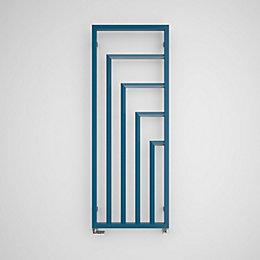 Terma Harley Vertical Radiator Azure Blue Powder Coated