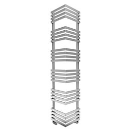 Terma Outcorner Chrome Effect Towel Warmer (H)1545mm (W)300mm