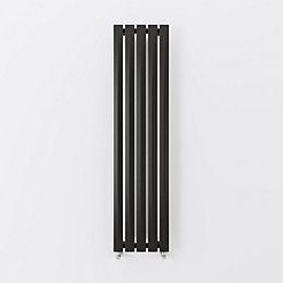 Terma Pier Vertical Radiator Metallic Black Textured (H)1680