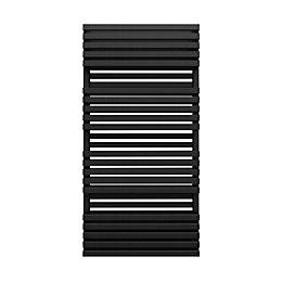 Terma Quadrus Metallic Black Towel Warmer (H)1185mm (W)600mm