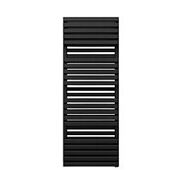 Terma Quadrus Electric Metallic Black Towel Warmer (H)1185mm