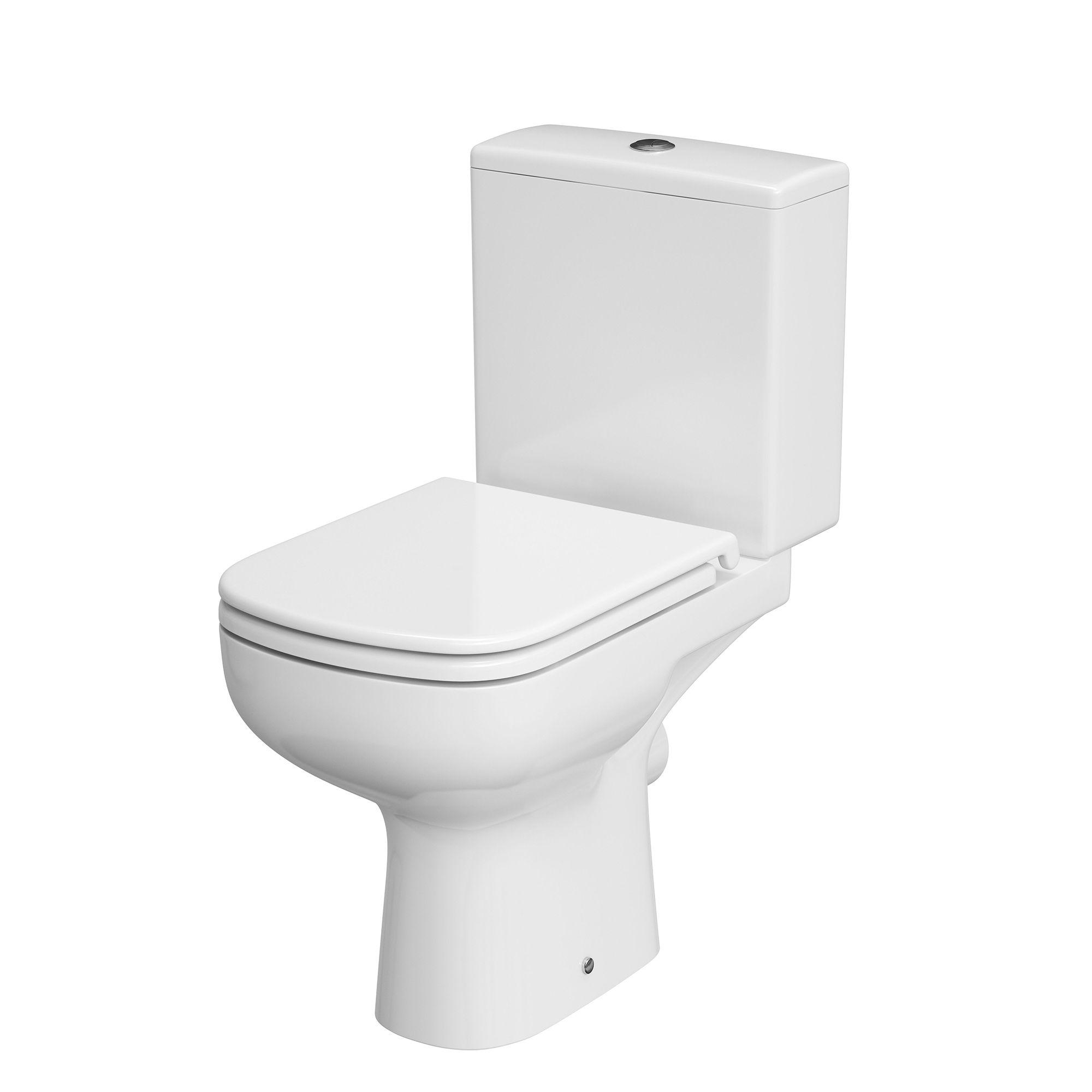 Cersanit Cortona Close Coupled Rimless Toilet With Soft