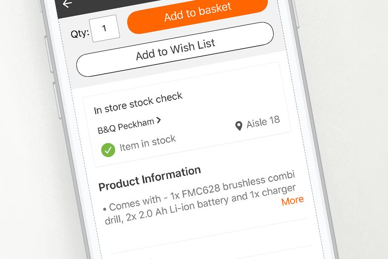 In-store product locator