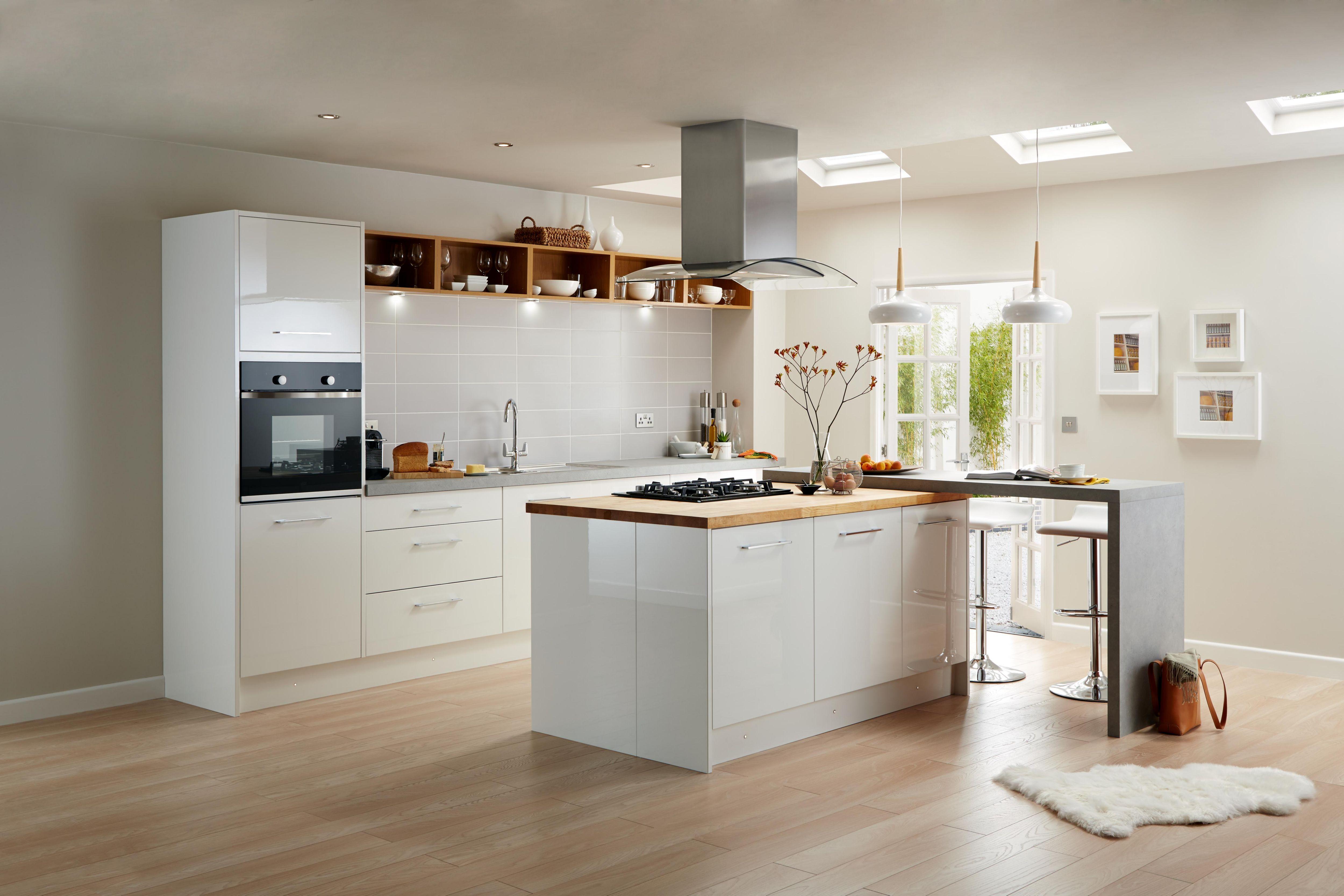 Awesome White High Gloss Kitchen Units Part - 6: Raffello High Gloss White Slab