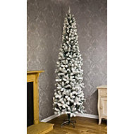 6.5ft Flocked spruce pine Artificial Christmas tree