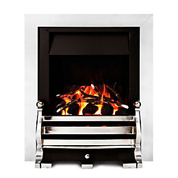 Ignite Fairfield Chrome Effect Inset Open Fronted Multiflue