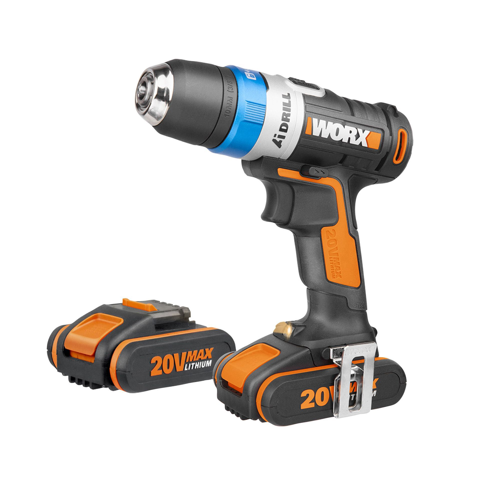 worx powershare cordless 20v 2a li ion drill 2 batteries wx178 1 departments tradepoint. Black Bedroom Furniture Sets. Home Design Ideas