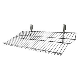 Silver effect Shoe shelf (H)50mm
