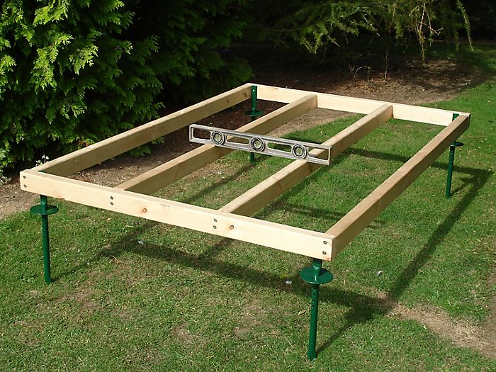 how to build a base for shed