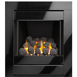 Cristal Black Manual Control Inset Gas Fire